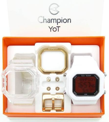 Relógio Champion Yot Troca Pulseira Branca Original + Nf