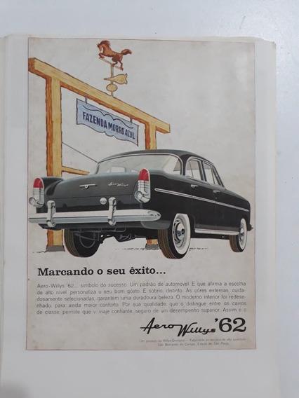 Propaganda Antiga Aero Willys 62 Anúncio Publicidade Coleção