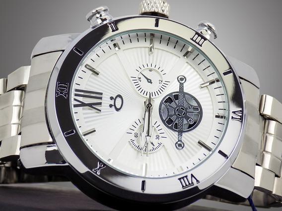 Relógio Masculino Prateado Moderno Estiloso Lindo Bonito