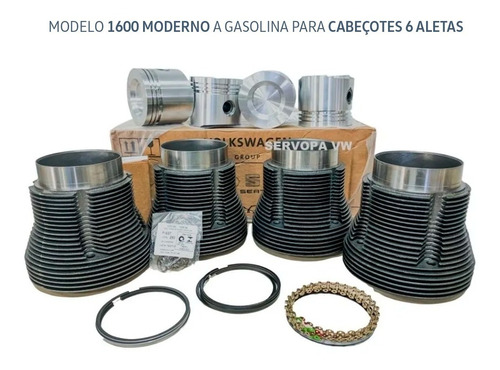 Kit Motor Camisa Pistão Ar 1600 Kombi & Fusca Original Vw