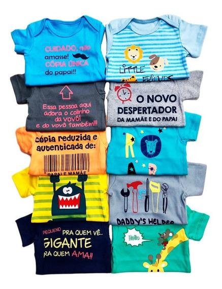 Kit 10 Peças Body Bebê Infantil Roupa Atacado Revenda Menino