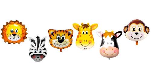Globo Cabeza De Animal 12 Pulgadas Pack 2