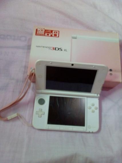 Nintendo 3ds Xl Rosa Desbloqueado + 55 Jogos + Cartão 32gb