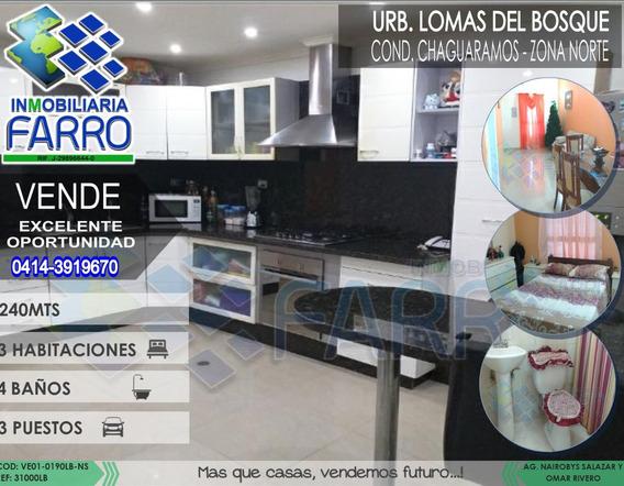 Venta De Casa En Tipuro Urb Lomas Del Bosque Ve01-0190lb-ns