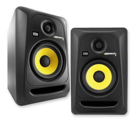 Monitores Ativo Krk Rokit Rp6 G3 - Par/novo 110v/ P+e