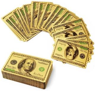Cartas Poker Mazo Doradas Naipes Ultra Finos Baraja Oro Ya!