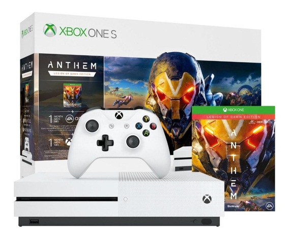 Microsoft Xbox One S 1TB Anthem Legion of Dawn Edition branco