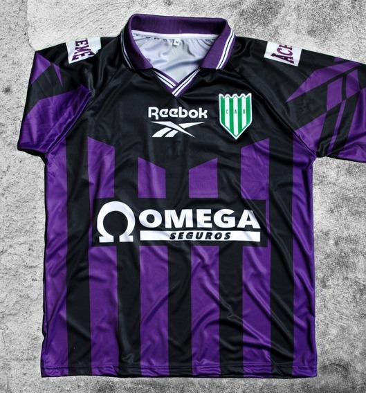 Camiseta Banfield Retro 1997 / 1998 Suplente Violeta Omega
