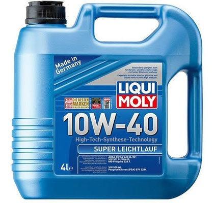 Aceite De Motor Liqui Moly 4 Litros 10w40 Sintetico Super Le