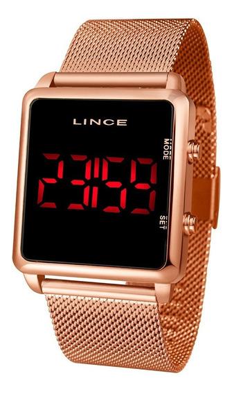 Relógio Feminino Lince Led Rosé Mdr4596l