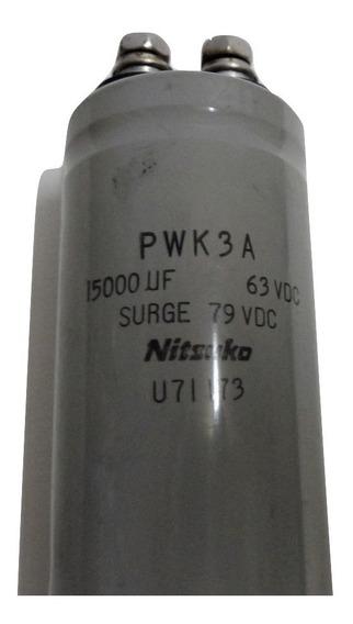 Capacitor Electrolítico Blindado 15.000 Mf X 63vcc Nitasuka - Made In Japan
