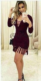 Vestido Da Moda Franjas Curto, Roupas Femininas Festa Balada