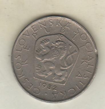 Checoslovaquia Moneda De 5 Coronas Año 1982 Km 60 - Xf
