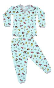 Kit 10 Pijamas Inverno Menino Infantil Roupa No Atacado