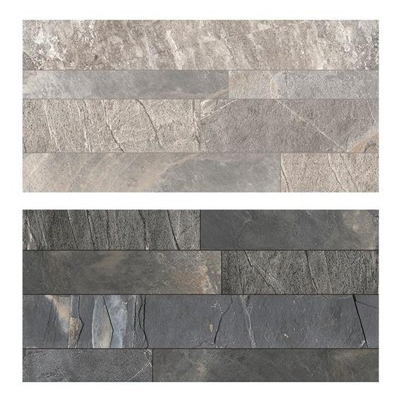 Porcelanatos De Piso Y Pared Cerro Negro Rodas Simil Piedra 60x120 1ra