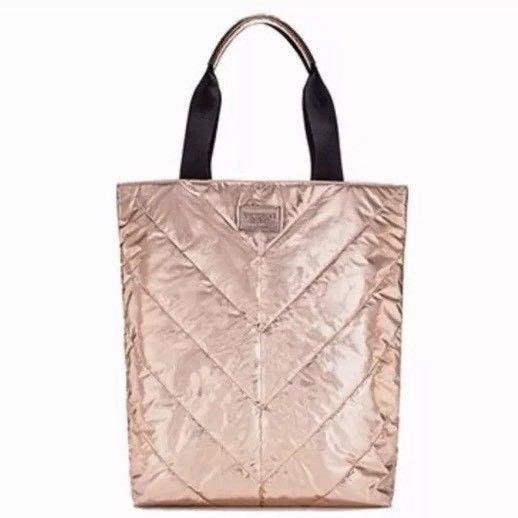 Bolsa Tote Dourada Rose Victorias Secret