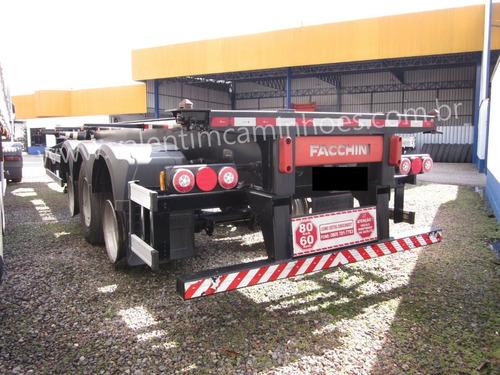 Imagem 1 de 9 de Carreta Facchini Porta Container Ls - 2018