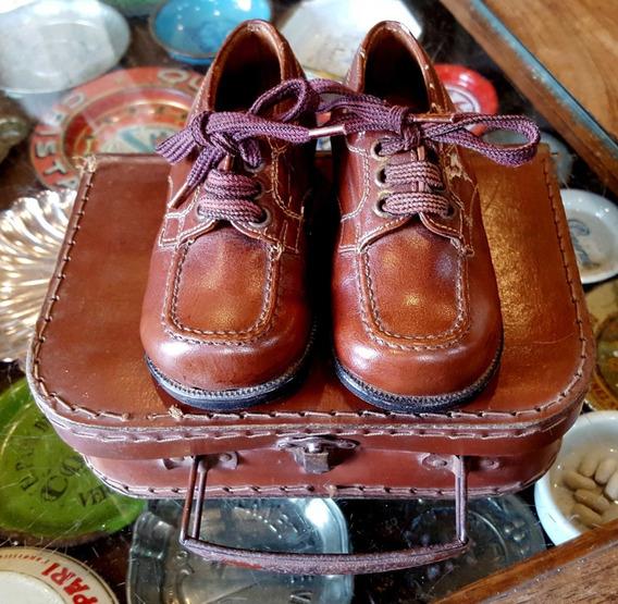 Antiguos Zapatos De Niño Circa 1940 Con Estuche. 16184