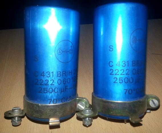 Capacitores Electroliticos Usados 2500 Uf X 64 Volts