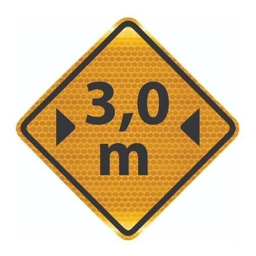 Imagem 1 de 3 de Placa Viária Largura Limitada Refletivo A-38 Ti