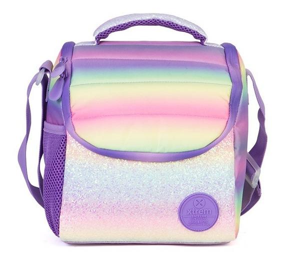 Lunchera Xtrem Break Rainbow Glitter Multicolor Brillos