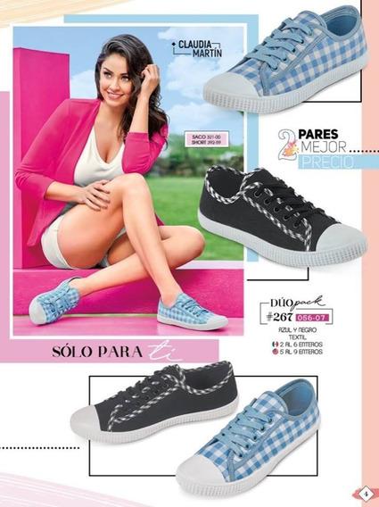 Kit 2 Pares De Tenis Cklass Dama Azul/negro 056-07