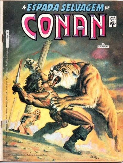 A Espada Servagem De Conan Nº 15