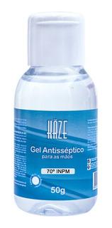 Mini Álcool Gel Atacado 70 Antisséptico Haze 50g Kit 48un