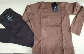 Conjunto Calça + Blusa Térmica Roupa Frio Flanelada Inverno