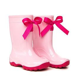 124759e0a70 Galocha Infantil Kidsplash Rosa Claro Com Laço Pink 22 23