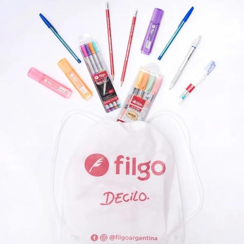 Kit Combo Filgo Study Con Bolsa Friselina
