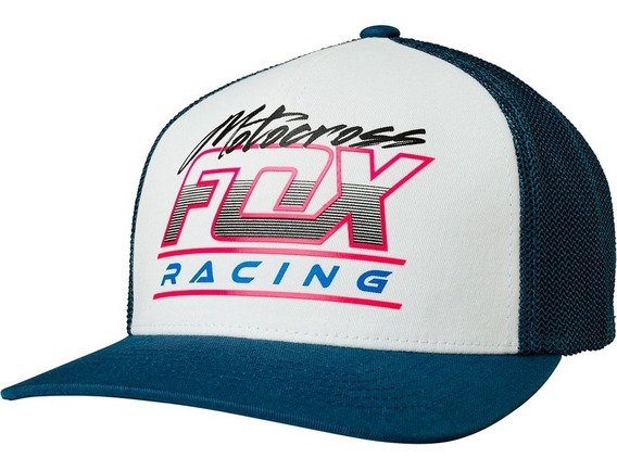 Gorra Fox Jetskee 110 Snapback Azul Mtb Cachucha Mx Moto Bmx
