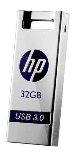 Pen Drive Hp 32gb Chaveiro Usb 3.0 Prata Portátil X795w