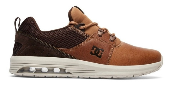 Tênis Dc Shoes Heathrow Ia Lx Brown Dark Chocolate