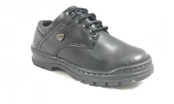 Zapato Cavatini 20-3714-abot Caña Y Alcocado-flor Negro