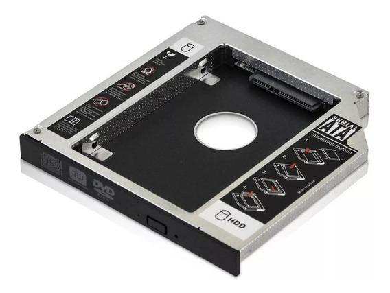 Case Adaptador Caddy 12,7mm Dvd P/segundo Hd Ou Ssd 2.5 Sata