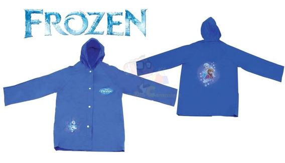 Capa Infantil De Chuva Princesas Da Disney Ou Frozen Azul