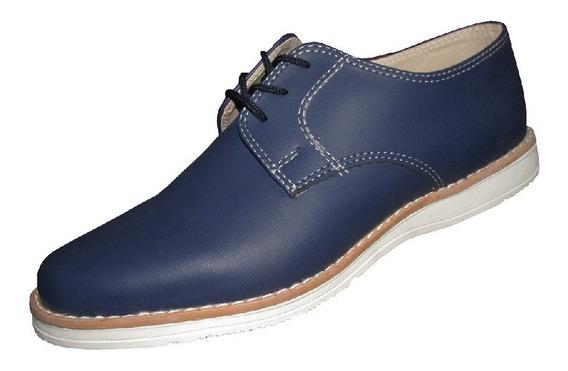 Zapato Sport De Vestir Hombre Art 800 Azul - Lopez Calzados