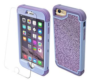 Protector iPhone 360 Rudo Brillos 6 7 8 Plus X Xr Xmax