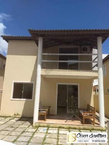 Casa 3/4 Condomínio Fechado, Praia Do Flamengo - Salvador - Ca00452 - 33773671