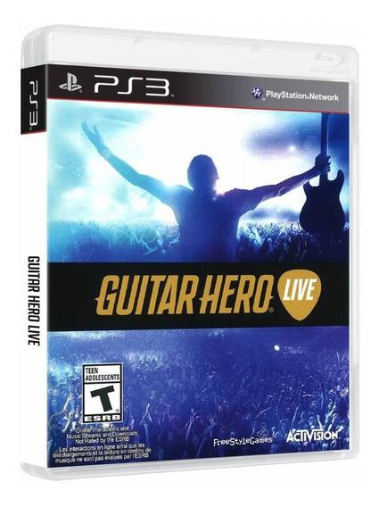 Jogo Guitar Hero Live Ps3 - Disco De Jogo - Midia Física