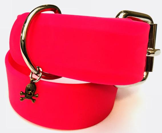 Kingpet Collar De Caucho, Grande, Color Rosa