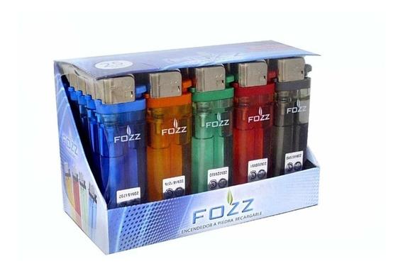 Encendedor Fozz Transparente Recargable X 25 Unidades