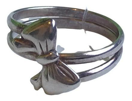 #ap3107957n - Anel Laço Delicado Em Prata