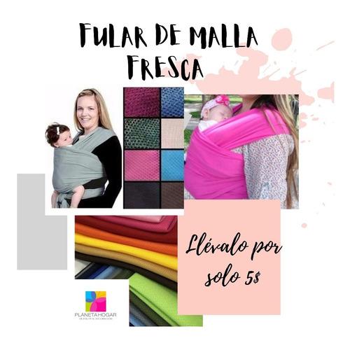 Imagen 1 de 1 de Fular Canguro Portabebé Malla Deportiva Tallas S M L Xl