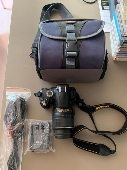 Nikon D3000, 18-55mm, Com Cabos E Bolsa, 1000 Clicks