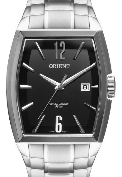 Relógio Orient Masculino Prateado Gbss1050 P2sx + Nota