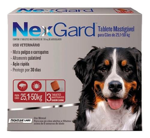 Nexgard 25 A 50 Kg Antipulgas E Carrapatos Cães+brinde