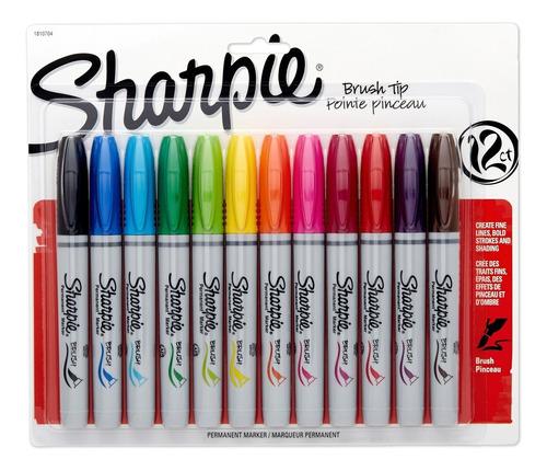 Marcadores Pincel Sharpie X 12