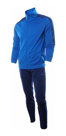 Agasalho Masculino Puma Calca Skinny Azul Original